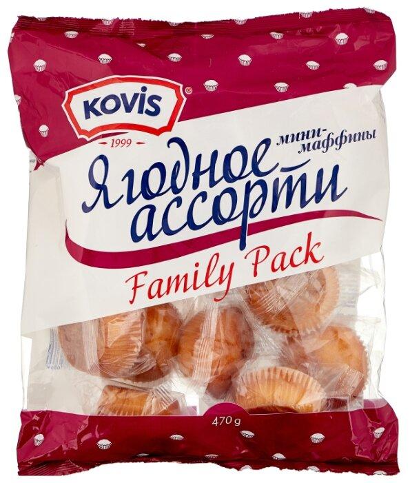 Мини-маффин KOVIS с начинкой ягодное ассорти (16 шт.)