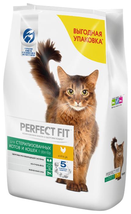 Корм для стерилизованных кошек Perfect Fit для профилактики МКБ, с курицей 10 кг — купить по выгодной цене на Яндекс.Маркете