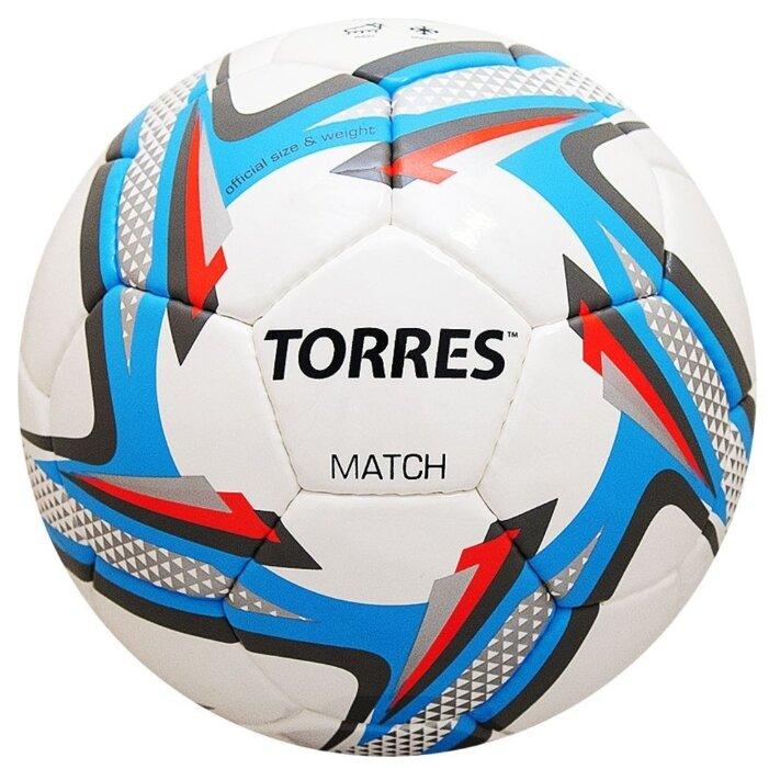 Футбольный мяч TORRES Match белый/серебристый/голубой 4