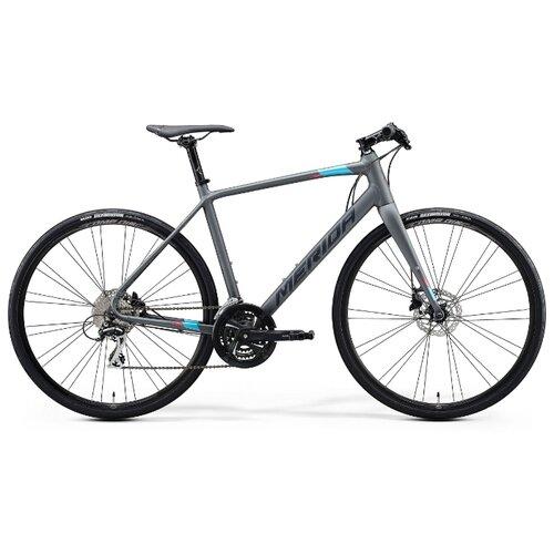 цена на Шоссейный гибрид Merida Speeder 100 (2020) matt dark grey/blue/pink/black 50 см (требует финальной сборки)