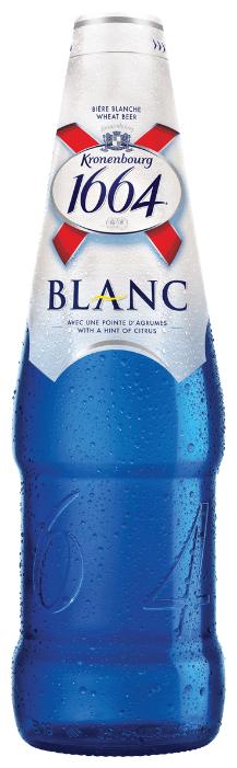 Пивной напиток светлый Kronenbourg 1664 Blanc 0.46 л