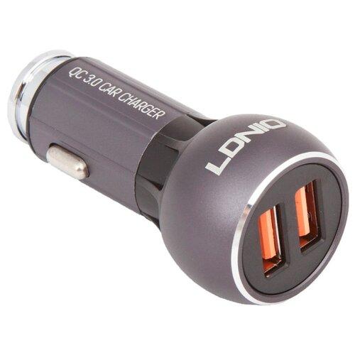 Купить Автомобильная зарядка LDNIO C503Q + Micro USB серый