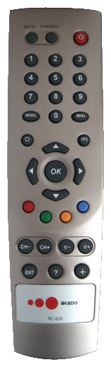 Пульт ДУ Gwire 99913 Акадо для приставки Humax ND-1010C