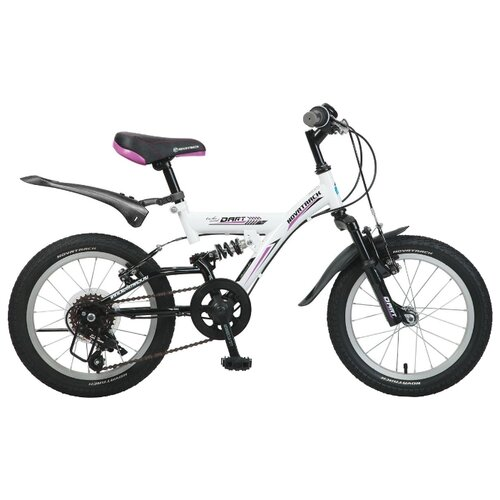Подростковый горный (MTB) велосипед Novatrack Dart 16 5 (2016) белый (требует финальной сборки)