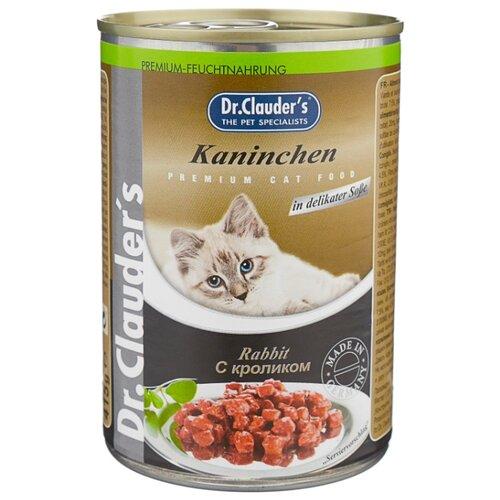 Корм для кошек Dr. Clauders Premium Cat Food консервы с кроликом (0.415 кг) 1 шт.Корма для кошек<br>