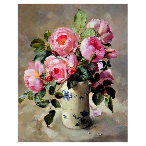Купить Molly Картина по номерам Розовый букет 40х50 см (KH0233), Картины по номерам и контурам