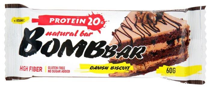 Bombbar протеиновый батончик Natural Bar + Vitamin C (60 г)