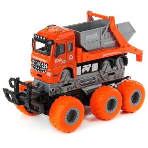 Купить Машинка XiangGao Toys Monster Sweeper Truck (83568) 21 см оранжевый/серый, Машинки и техника
