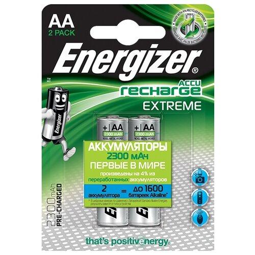 Фото - Аккумулятор Ni-Mh 2300 мА·ч Energizer Accu Recharge Extreme AA 2 шт блистер аккумулятор ni mh 2600 ма·ч varta recharge accu power 2600 aa 4 шт блистер