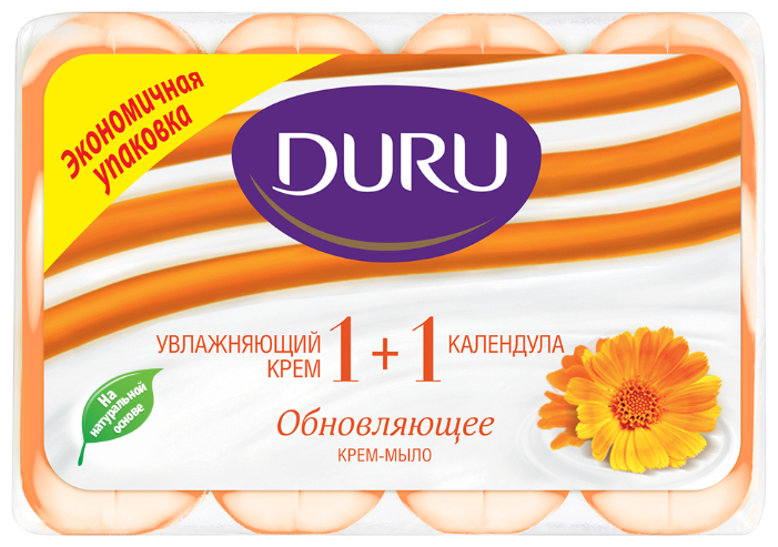 Крем-мыло кусковое DURU Soft sensations 1+1 Календула