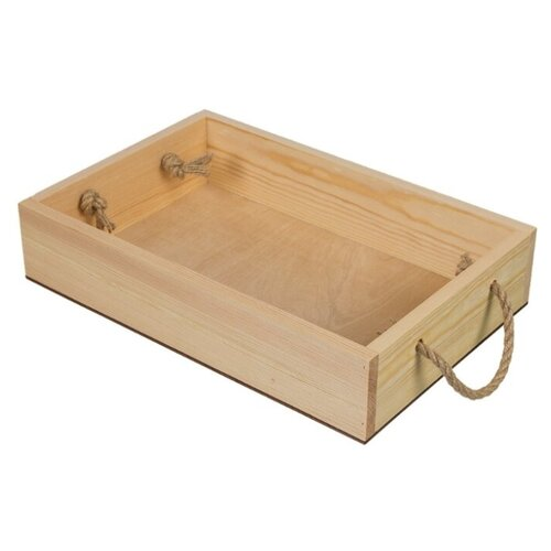Купить Mr. Carving Заготовка для декорирования Поднос с веревочными ручками ВД-483 бежевый, Декоративные элементы и материалы