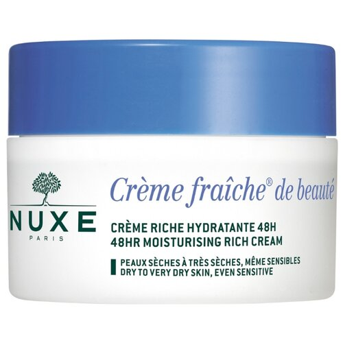 Фото - Nuxe Creme Fraiche de Beaute 48H Moisturising Rich Cream Насыщенный увлажняющий крем для лица, 50 мл увлажняющий крем для лица bioderma hydrabio rich moisturising care 50 мл