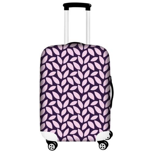 цена Чехол для чемодана Bergmann PerfectSolutions Фиолетовый листопад M/L, фиолетовый онлайн в 2017 году