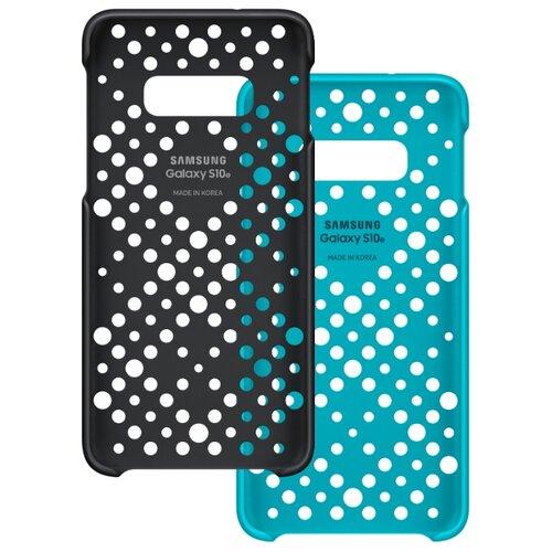 Чехол Samsung EF-XG970 для Samsung Galaxy S10e черный / зеленый
