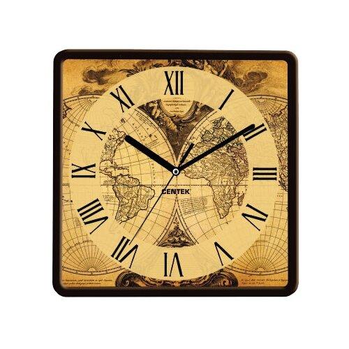 Часы настенные кварцевые CENTEK CT-7103 Map часы centek centek ст 7104 flower