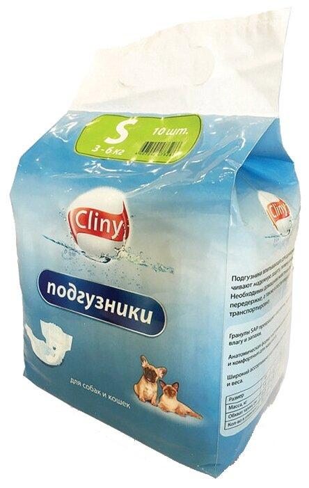 Подгузники для собак Cliny 3-6 кг размер S