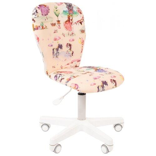 Компьютерное кресло Chairman Kids 105 детское, обивка: текстиль, цвет: принцессы кресло chairman kids 105 ткань нло