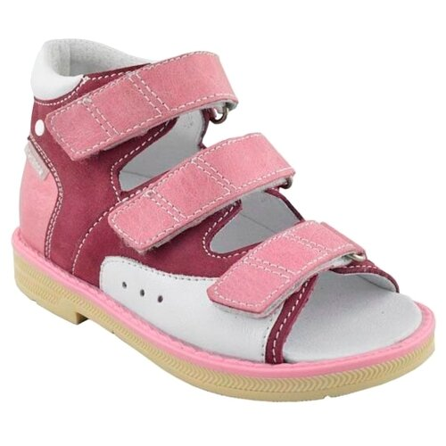 Сандалии Orthoboom размер 28, фуксия/розовый/белыйБосоножки, сандалии<br>