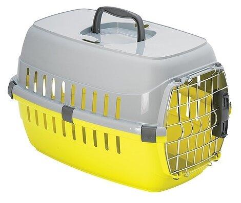 Moderna Переноска Roadrunner с пластиковой дверцей, 48,5x32,3x30,1 см, до 5 кг, лимонно-желтый (900 г)