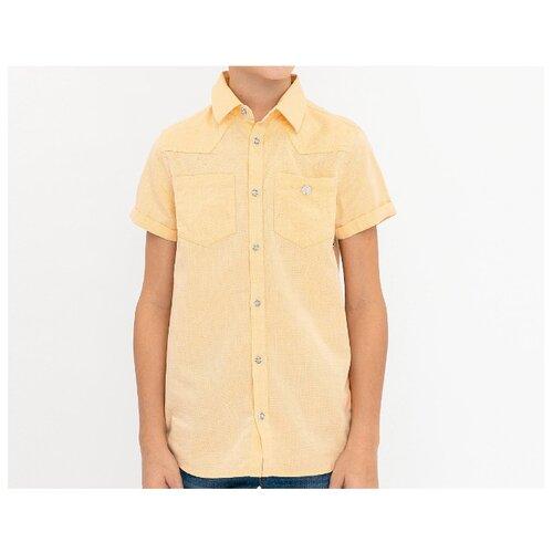 Купить Рубашка Button Blue размер 104, желтый, Рубашки