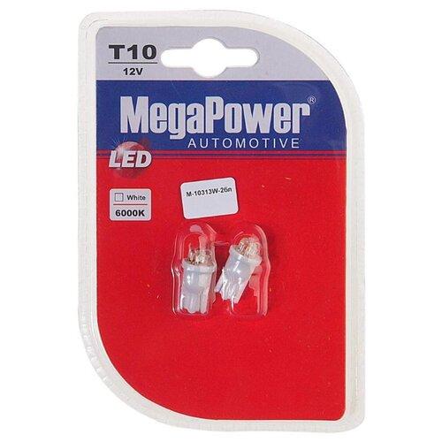 Фото - Лампа автомобильная светодиодная MegaPower 10313W-2бл W5W (T10) 12V 10W 2 шт. 2pcs t10 w5w 80w cree xqb chip led hid