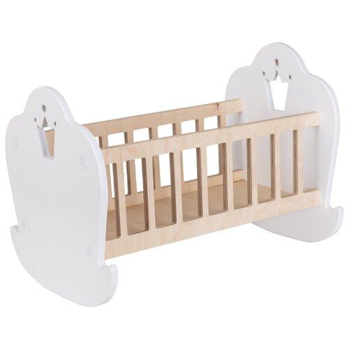 Rodent-Kids Кроватка для куклы Princess, вырез корона белый/бежевый
