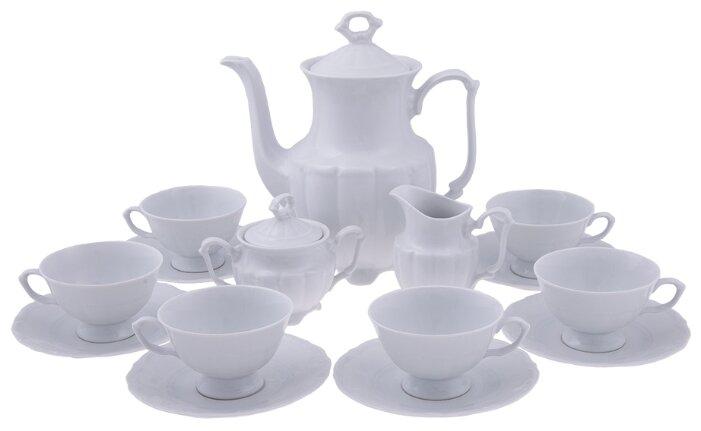 Кофейный сервиз Cmielow Maria-Teresa (Белый) 15 предметов