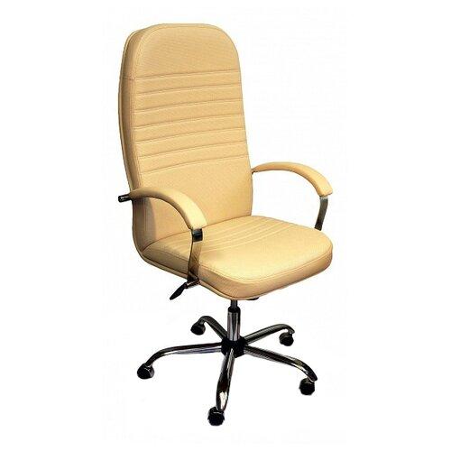 Компьютерное кресло Креслов Круиз хром офисное, обивка: искусственная кожа, цвет: кофейный стул креслов самба кв 10 100000 0406