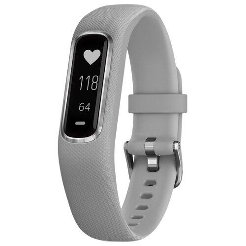 Умный браслет Garmin Vivosmart 4 серый/серебристый S/M