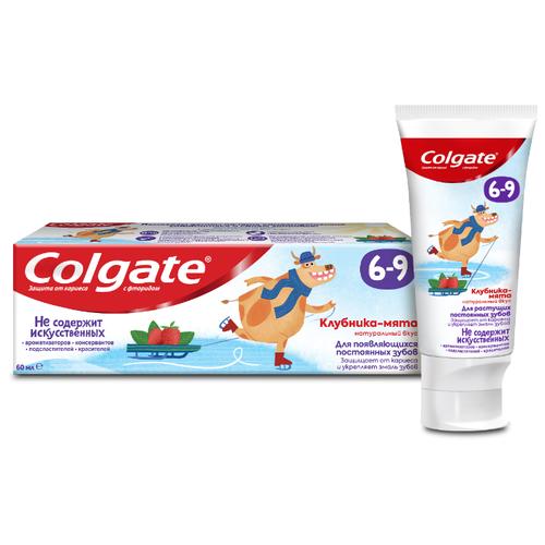 Зубная паста Colgate Клубника-мята 6-9 лет, 60 мл, Гигиена полости рта  - купить со скидкой