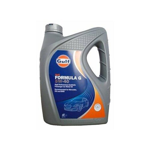 Моторное масло Gulf Formula G 5W-40 4 л моторное масло gulf multi g 15w 40 1 л