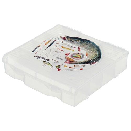 Ящик с органайзером BLOCKER 9 ячеек BR3727 17 х 16 x 4.5 см прозрачный матовыйЯщики для инструментов<br>