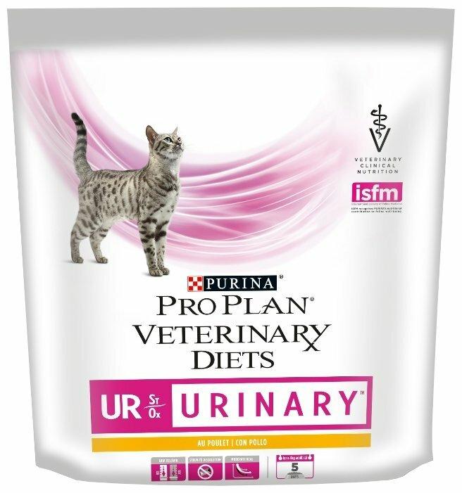 Корм для кошек Pro Plan Veterinary Diets Feline UR Urinary with Chicken dry (0.35 кг) — цены на Яндекс.Маркете