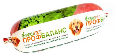 Корм для собак ФРЕШПЕТ Профбаланс ролл с Индейкой и тыквой