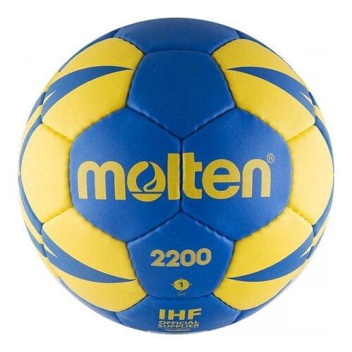 Мяч для гандбола Molten H1X2200-BY синий/желтый