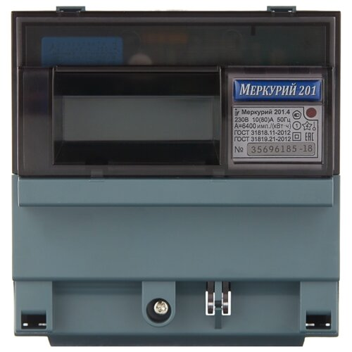 Счетчик электроэнергии однофазный однотарифный INCOTEX Меркурий 201.4 10(80) А