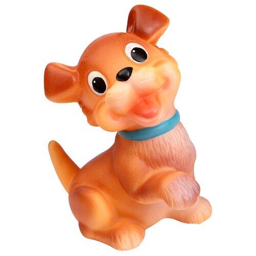 Купить Игрушка для ванной ОГОНЁК Собака Бимка (С-491) коричневый, Игрушки для ванной