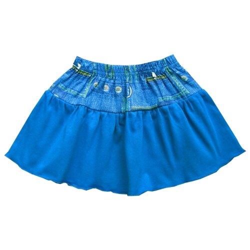 Юбка ПАНДА дети размер 92, бирюзовыйПлатья и юбки<br>