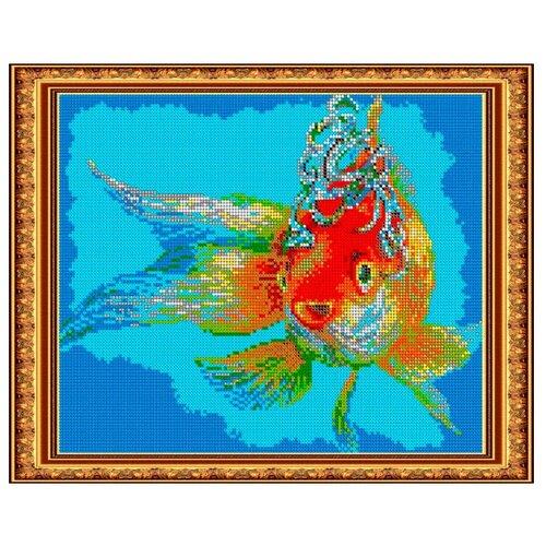 Светлица Набор для вышивания бисером Золотая рыбка 30 х 24 см (349П)