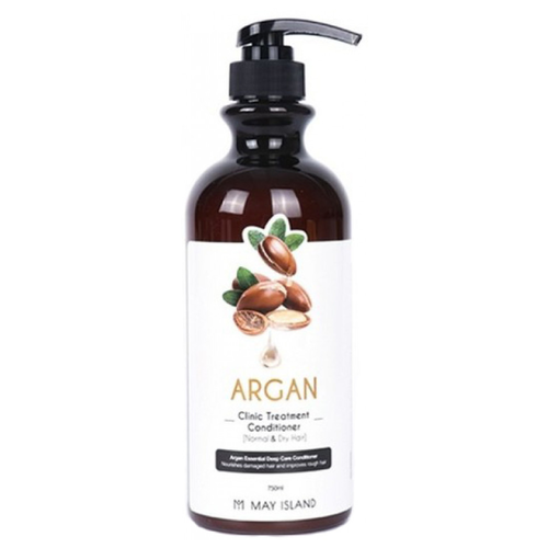 Купить MAY ISLAND кондиционер Argan Clinic Treatment для восстановления поврежденных волос с аргановым маслом, 750 мл