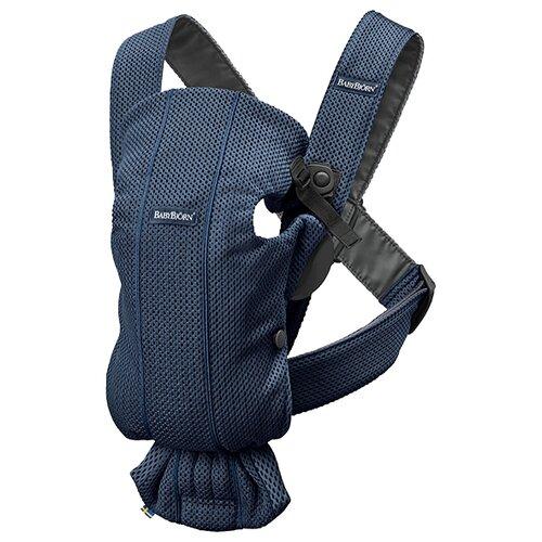 Фото - Рюкзак-переноска BabyBjorn Mini 3D Mesh, navy blue эргорюкзак babybjorn move mesh navy blue