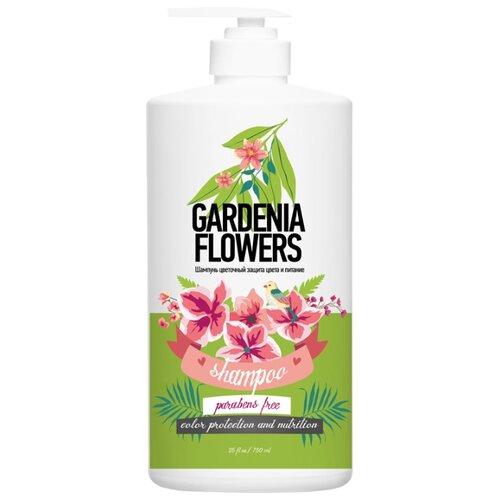PROTOKERATIN шампунь для волос by Family цветочный Защита цвета и питание Цветы Гардении 750 мл с дозатором
