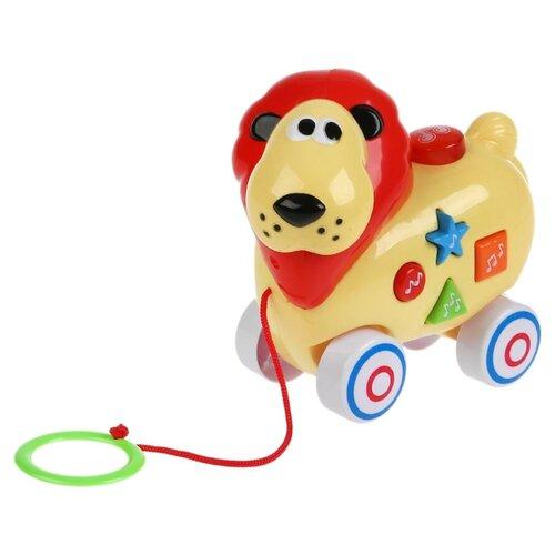 Купить Каталка-игрушка Умка Лев (B610853-R) желтый, Каталки и качалки