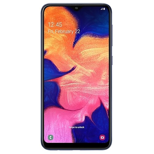 Смартфон Samsung Galaxy A10 синий (SM-A105FZBGSER) смартфон samsung galaxy s8 sm g950f 64gb жёлтый топаз