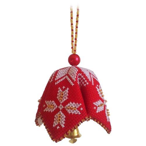 ZENGANA Набор для вышивания бисером и нитками Волшебный колокольчик 7 х 7 см (M-043)
