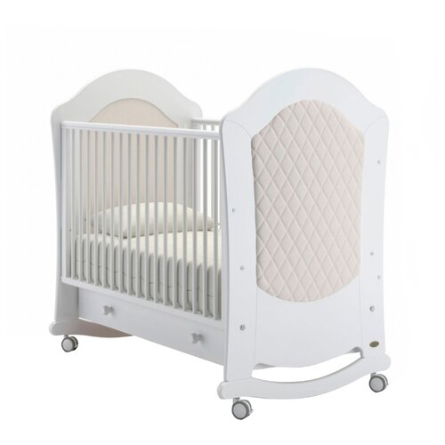 Кроватка Nuovita Tempi (колесо) (качалка), на полозьях белый кроватка гандылян дашенька колесо качалка белый