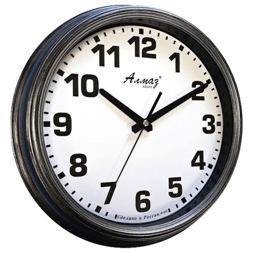 Часы настенные кварцевые Алмаз A35 серый часы настенные кварцевые алмаз e66 серый