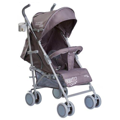 Купить Прогулочная коляска Liko Baby BT-109 City Style ECO серый, Коляски
