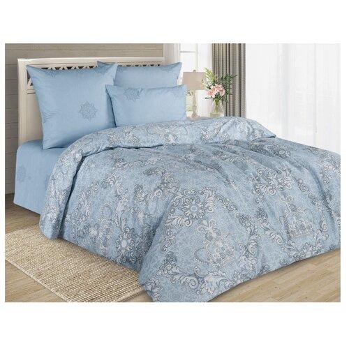 Фото - Постельное белье 2-спальное макси Guten Morgen Empress (927), перкаль, 70 х 70 см серый/голубой постельное белье 2 спальное макси guten morgen 884 поплин 70 х 70 см голубой белый