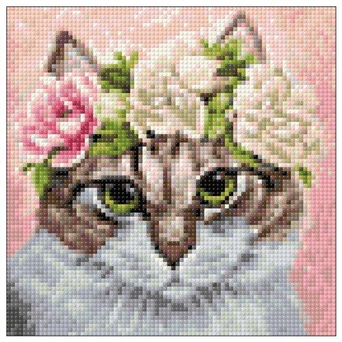 Купить Гранни Набор алмазной вышивки Мартовский кот (Ag 2280) 20х20 см, Алмазная вышивка
